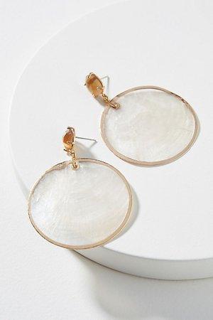 Hadley Shell Drop Earrings | Anthropologie