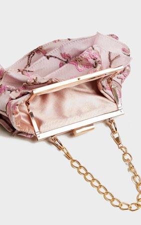 Pink Emroidered Oriental Mini Bag | PrettyLittleThing USA