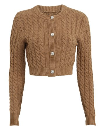 Ronny Kobo | Lynnsey Cable Knit Cardigan | INTERMIX®