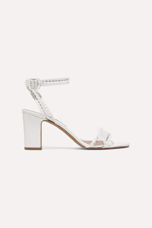 Leticia Leather And Pvc Sandals - White