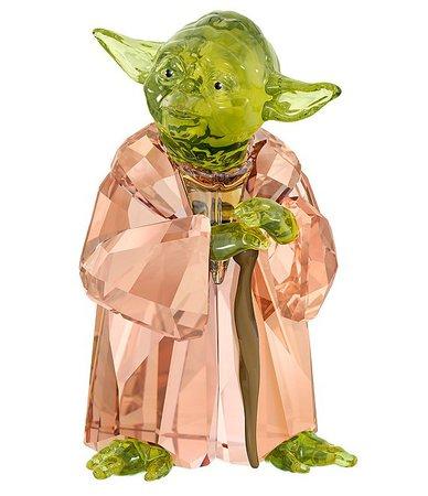 Swarovski Crystal Star Wars Master Yoda Crystal Figurine | Dillard's