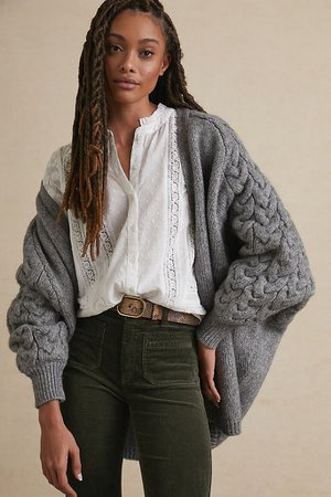 Cathy Cable-Knit Cardigan | Anthropologie