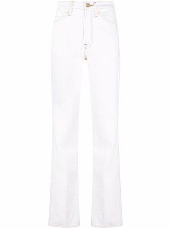FRAME high-rise straight-leg Jeans - Farfetch