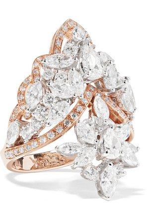 YEPREM 18-karat rose gold diamond ring$13,000