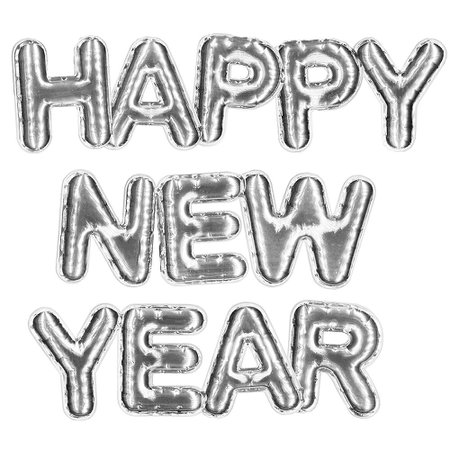 Silver Happy New Year Balloons 3pc | Party City Canada