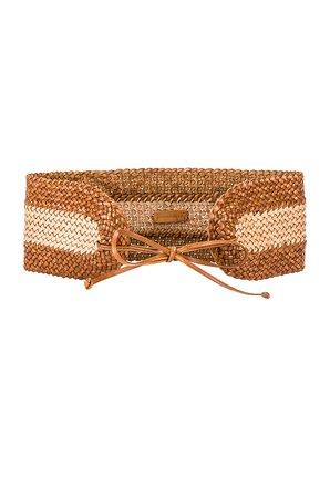 Woven Wide Waist Belt