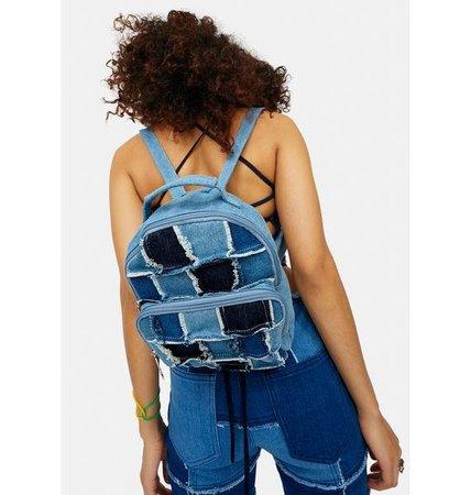 Delias Groovy Patchwork Denim Mini Backpack - Blue | Dolls Kill
