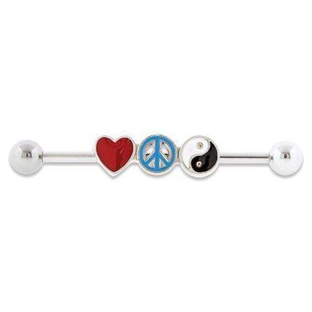 Peace Love Industrial Barbell #SPLT# - * Rebel Bod *