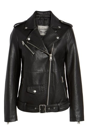 Levi's® Oversize Faux Leather Moto Jacket | Nordstrom