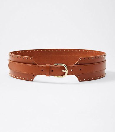 Leather Wide Waist Belt