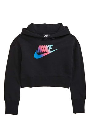 Nike Sportswear Crop Hoodie (Big Girls) | Nordstrom