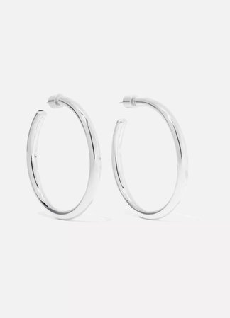 Silver Baby Lilly gold-plated hoop earrings | Jennifer Fisher | NET-A-PORTER