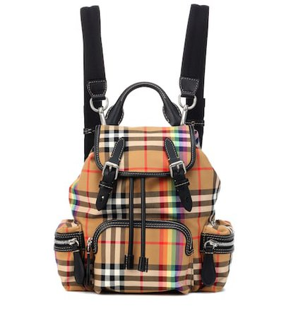 The Rucksack Small check backpack