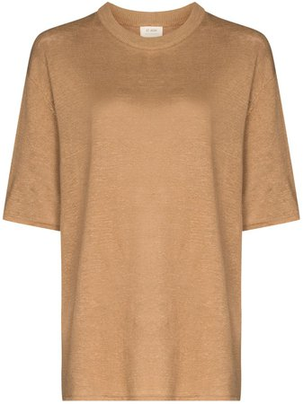 St. Agni Copain short-sleeve Linen T-shirt - Farfetch