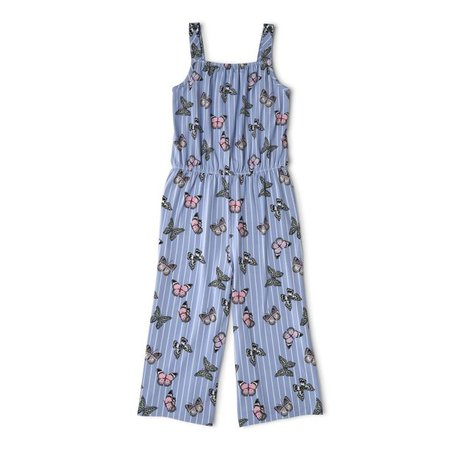 Wonder Nation - Wonder Nation Girls Sleeveless Soft Yummy Cropped Play Jumpsuit, Sizes 4-18 & Plus - Walmart.com - Walmart.com