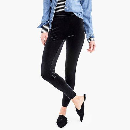 J.Crew: Stretch Velvet Leggings For Women