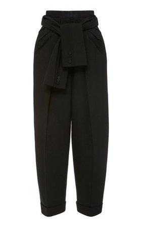 Chambray-Effect Cotton Straight-Leg Pants by Alberta Ferretti | Moda Operandi