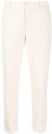 Mid-Rise Cropped Trousers