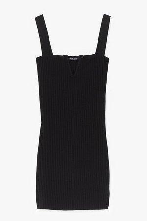 Good to V Bodycon Mini Dress   Nasty Gal