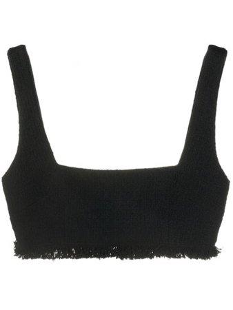 Brognano Tweed Bra Top 28BR1W07204403 Black   Farfetch