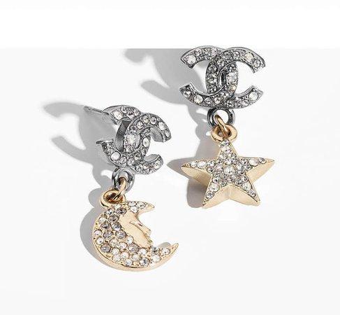 Chanel CC Star Moon Strass earring