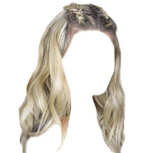 blonde hair png braid