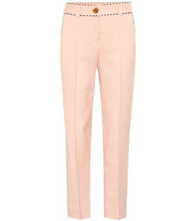 High-rise straight pants