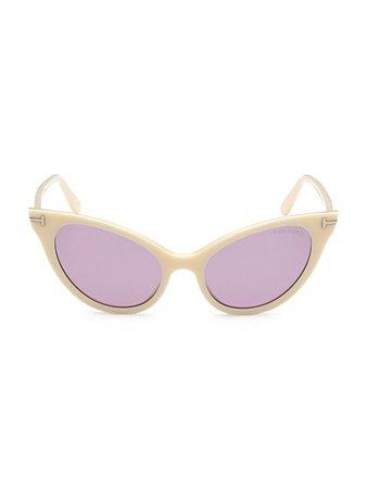 Tom Ford Evelyn 2 53MM Cat Eye Sunglasses | SaksFifthAvenue