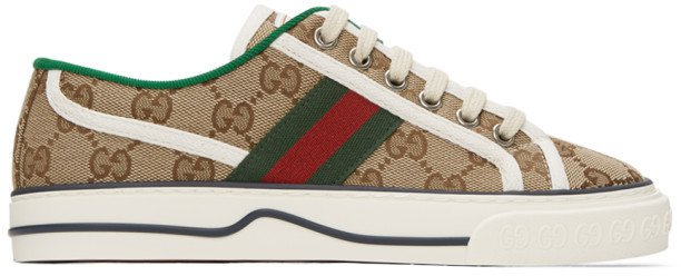 Beige GG Supreme 1977 Tennis Sneakers