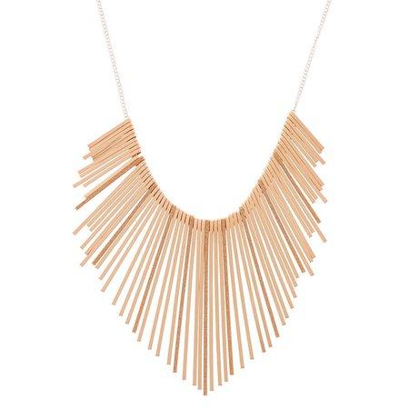 Rose Gold Glitter Bar Bib Statement Necklace | Icing US