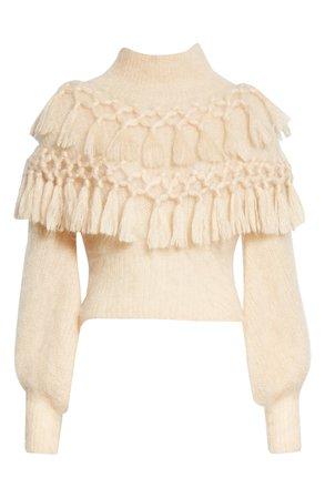 Zimmermann Ladybeetle Tassel Mohair & Silk Sweater   Nordstrom