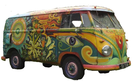 hippie vw bus