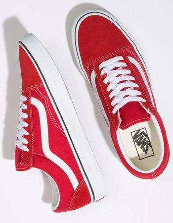 VANS Old Skool Racing Red & True White Shoes - RED - 351355300 | Tillys