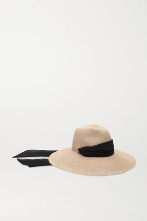 Sand Cassidy voile-trimmed straw hat | Eugenia Kim | NET-A-PORTER