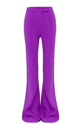 Rene Stretch Crepe Flared Trousers By Alex Perry   Moda Operandi