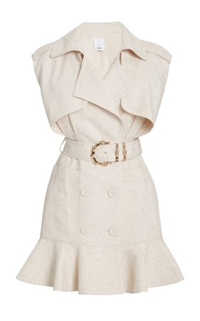 Hanbury Belted Cotton-Blend Belted Mini Trench Dress by Acler | Moda Operandi