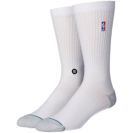 Men's NBA League Stance White Logoman Crew Socks