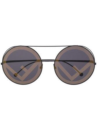 Fendi Eyewear Run Away Sunglasses - Farfetch