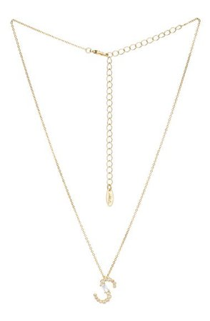 Ettika Mix Crystal Initial Pendant Necklace   Nordstrom