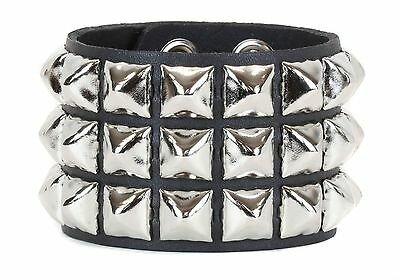 Pyramid Stud 4 Row Punk Rockers Gothic Bracelet Glam Thrash Heavy Metal | eBay