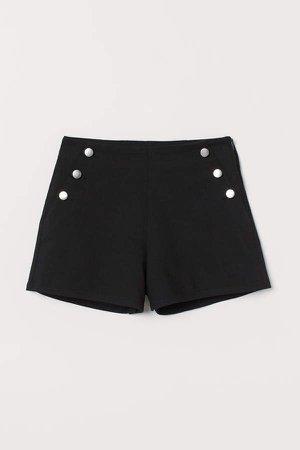 Short Twill Shorts - Black