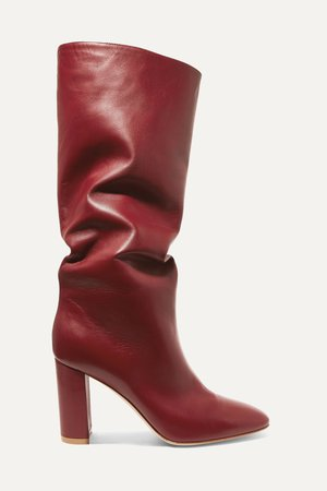Burgundy Laura 85 leather knee boots | Gianvito Rossi | NET-A-PORTER