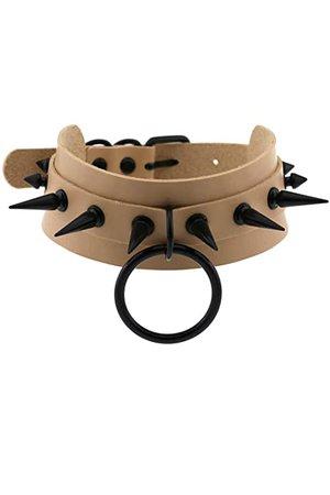 Amazon.com: eYLun Women Girls Leather Choker Collar Necklace Vintage Gothic Punk Rock Rivet Necklace: Clothing
