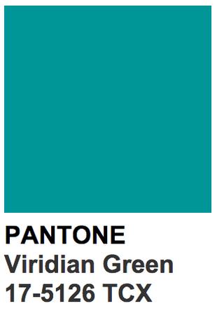 PANTONE Color: Viridian Green
