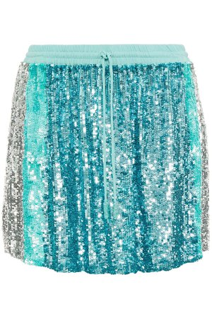 Turquoise Nora sequined chiffon mini skirt | Sale up to 70% off | THE OUTNET | RETROFÊTE | THE OUTNET
