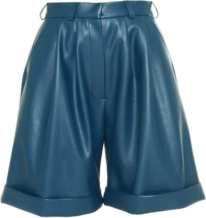 Anouki Vegan Leather High Waist Shorts Size: 34