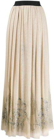 sequin-embellished maxi skirt