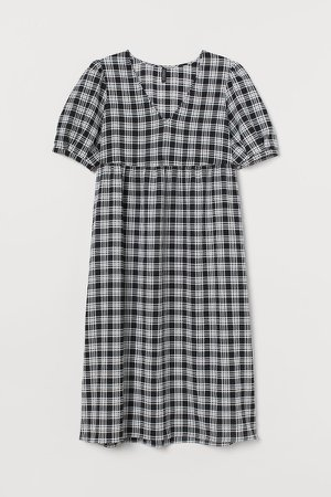 H&M+ Checked dress - Black