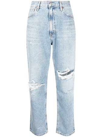 Shop blue Citizens of Humanity high-waisted straight-leg jeans with Express Delivery - Farfetch