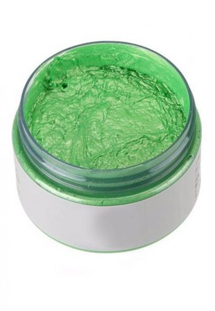 Temporary Green Colored Wax Hair Dye   Wax Hair Hair Coloring for Festivals